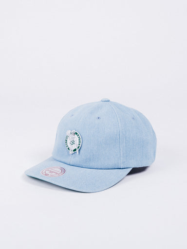 gorra mitchell and ness boston celtics denim vaquero strapback 6 panel