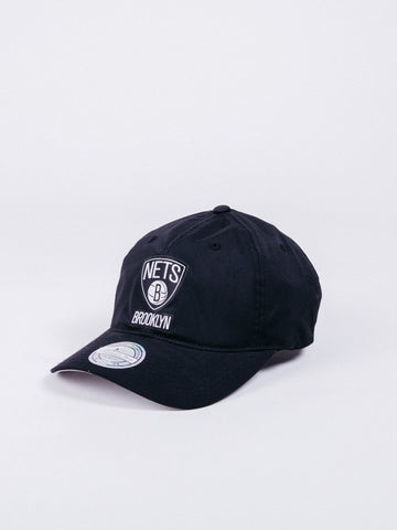 mitchell and ness brooklyn nets black hat light & dry