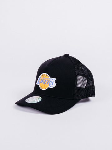 gorra mitchell and ness los angeles lakers trucker vintage jersey logo gorra rejilla camionero nba LA visera curva