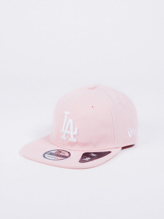 gorra new era 9twenty los angeles dodgers team packable hat pink dryera water repellent
