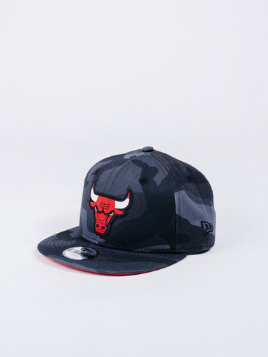 gorra NEW ERA 9FIFTY Character Chicago Bulls Grey Camo Snapback Youth(Niño) visera plana ajustable