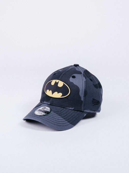 gorra new era character 9forty batman dad hat grey camo youth size talla niño niños visera curva
