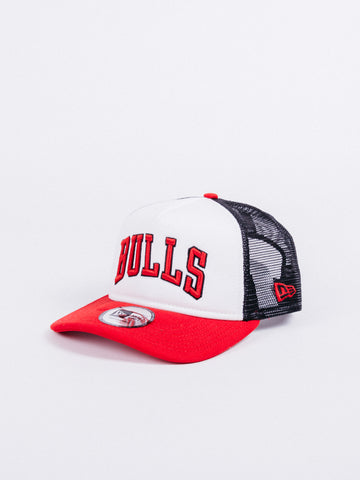 newest 7ac1f 5d5f2 NEW ERA Team Trucker Colour Chicago Bulls White Red Black