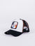 gorra capslab dragon ball z krillin trucker black white visera curva bola de dragon