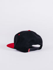 Basic Black Red Snapback