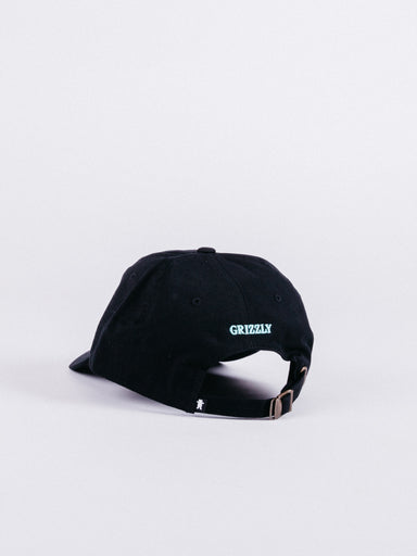 gorra OG Bear Dad Hat Black/Light Blue ajustable visera curva oso skate grizzly griptape