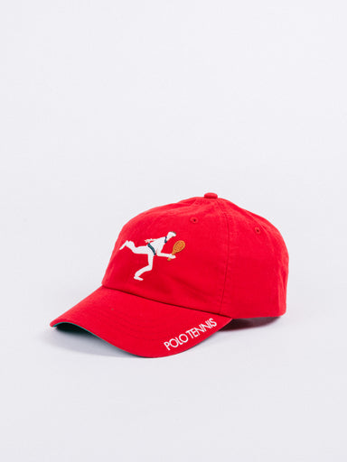 gorra Polo Ralph Lauren Polo Tennis The Championships Wimbledon Large Player red visera curva