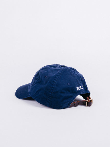 gorra polo ralph lauren big pony azul visera curva dad hat