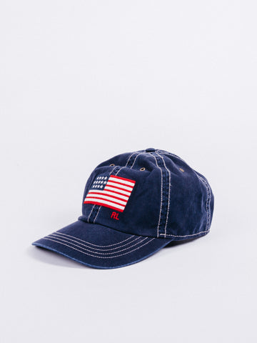 9978aa99 Polo Ralph Lauren Chino Hat Flag Navy