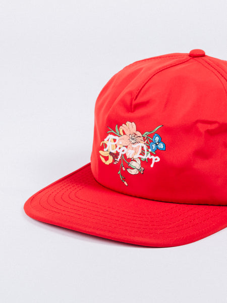 BLOOMING NERM 5 PANEL SNAPBACK HAT WATERMELON