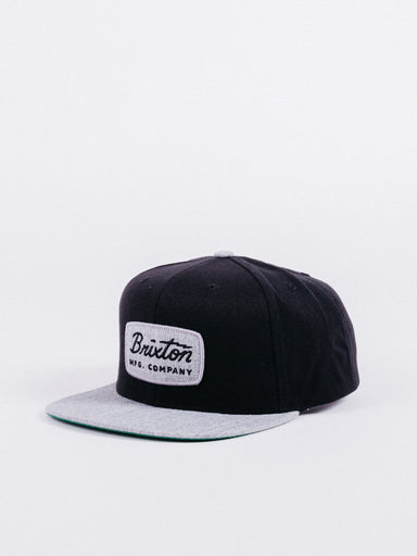 gorra Brixton Jolt Snapback Black/Heather Grey visera plana ajustable