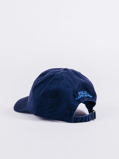 gorra Polo Ralph Lauren Wearing Polo Bear Cotton Chino Cap Navy visera curva ajustable
