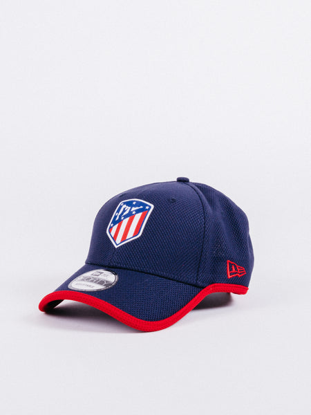 gorra NEW ERA x Atlético de Madrid 9Forty Diamond Dad Hat Navy/Red visera curva ajustable fútbol