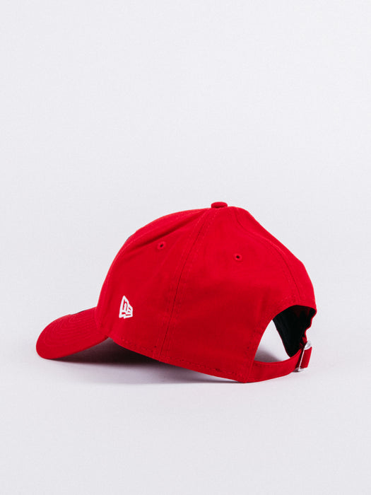 gorra NEW ERA x Atlético de Madrid 9Forty Dad Hat Red visera curva ajustable fútbol