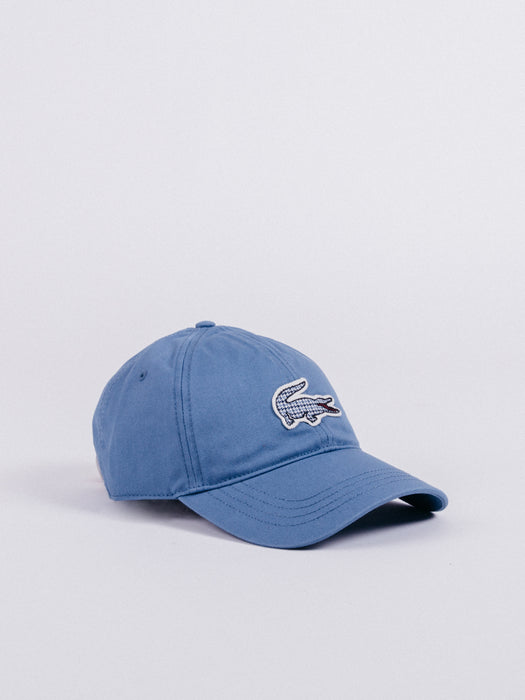 Pattern Logo Cap Blue