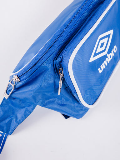 riñonera UMBRO Retro Waistbag Regal Blue dos bolsillos zul tira ajustable