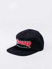 gorra thrasher outlined snapback black visera plana logo