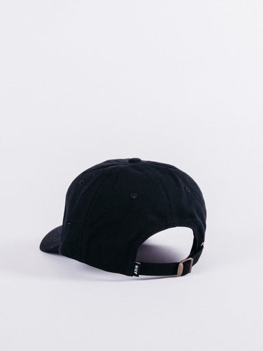 Triple Triangle Curved Visor Hat Black