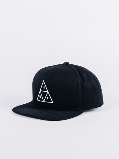 Triple Triangle Snapback Black