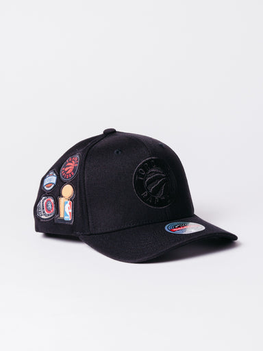 gorra raptos mitchel and ness negra