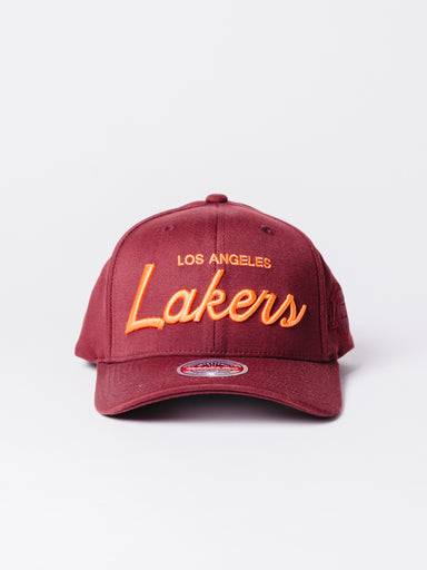 nba deep snapback Lakers Burdeos