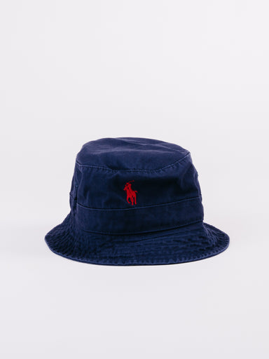 Classic Navy Polo Loft Bucket Hat