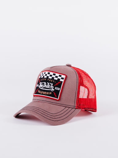 Gorra Trucker SQUARE17 brown/red