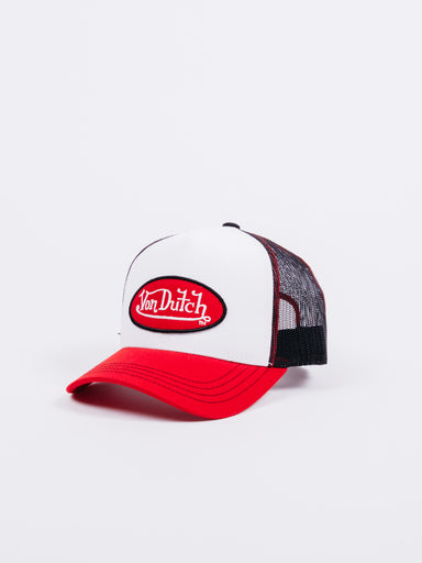 gorra trucker motos von dutch roja y blanca