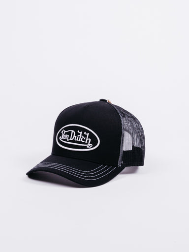 Gorra Von Dutch Negra Logo Blanco
