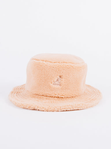 Gorro Bucket Kangol Beige Borrego Plush Rap Hat