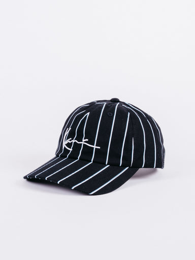 Gorra Carl Kani Signature Stripes Rayas Negra