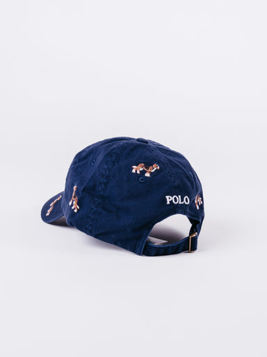 Polo Classic Navy Hat Dog Embroidery