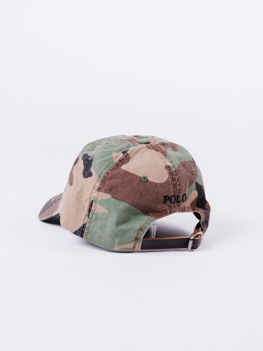 Polo Big Pony Camo Hat MU Green