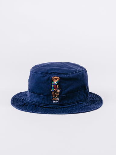 Classic Navy Polo Bear Bucket Hat