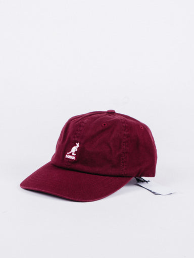 Washed Baseball Hat Burgundy