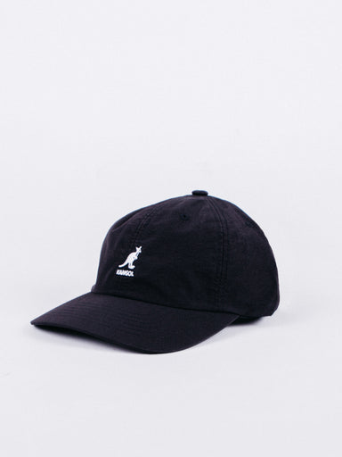 WR Nylon Baseball Hat Black