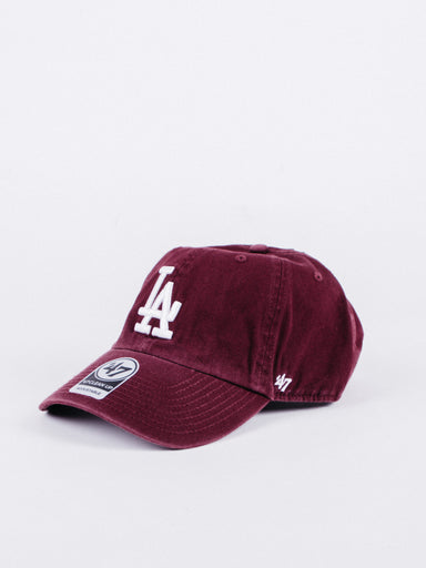 CLEAN UP Los Angeles Dodgers Dad Hat Burgundy