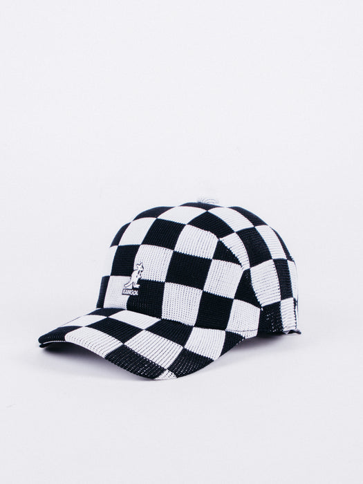 Ceckered Tropic Adj Spacecap  Black/White