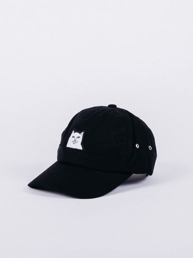 gorra rip n dip Lord Nermal Pocket Dad Hat Black visera curva ajustable bolsillo gato corte de mangas
