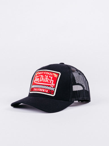 gorra von dutch BLKA Trucker Black/Red visera curva ajustable rejilla negro rojo