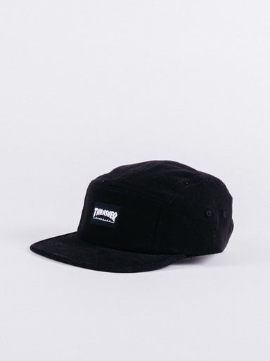 gorra thrasher flame 5 panel negra