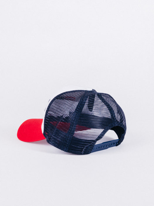 FILA TRUCKER CAP SNAPBACK WHITE/RED/BLUE