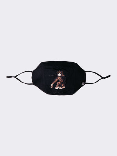 Silly Monkey Reusable Face Mask Black