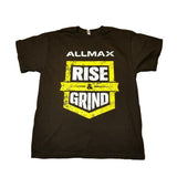 ALLMAX Rise & Grind T-Shirt Black | JackedScholar Supplements Canada