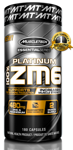 MuscleTech Platinum 100% ZM6 (180 caps) | JackedScholar Supplements Canada