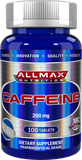 ALLMAX Caffeine (100 Tablets) | JackedScholar Supplements Canada
