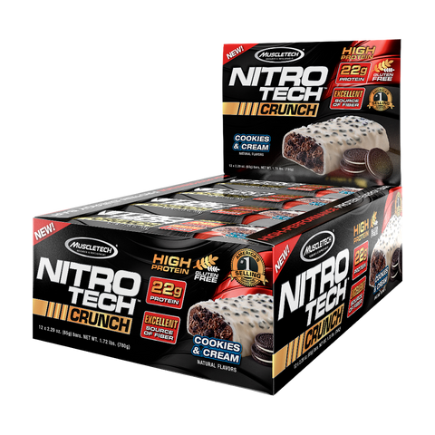 MuscleTech Nitro-Tech Crunch Bar (12 Bars)