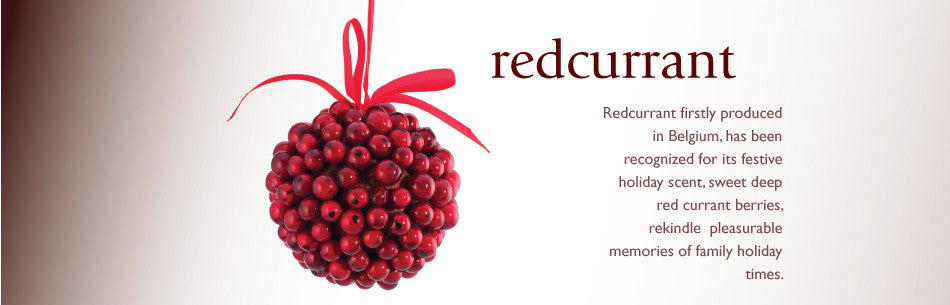 Redcurrant firstly produced in Belgium, has been recognized for its festive holiday scent, sweet deep red currant berries, rekindle pleasurable memories of family holiday times.