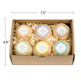 Bath Bomb Essentials Gift Set for Women: Pure Aromatherapy Zen with 6 Calming Scents