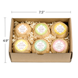 Mind, Body, and Balance Bath Bomb Gift Set for Women: 6 Exquisite Scents for Bath and Body - Freida & Joe